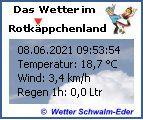 ..:: Das aktuelle Wetter aus dem Rotkäppchenland im Schwalm-Eder-Kreis ::..